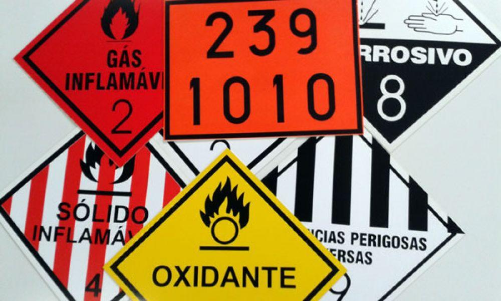 Símbolos transporte de cargas perigodas